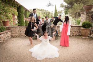 Mariage photo de goupe banc casse
