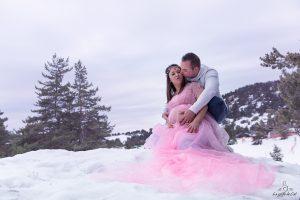 shooting neige futurs parents