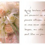 mariée Papillon bouquet fleurs