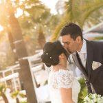 mariés baiser soleil Menton