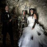 mariés gothique grotte armure arbalete