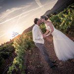 mariés vignes soleil couchant domaine bouverie