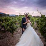 mariés vignes soleil couchant la magnanerie
