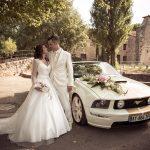mariés voiture mustang flassans sur issole