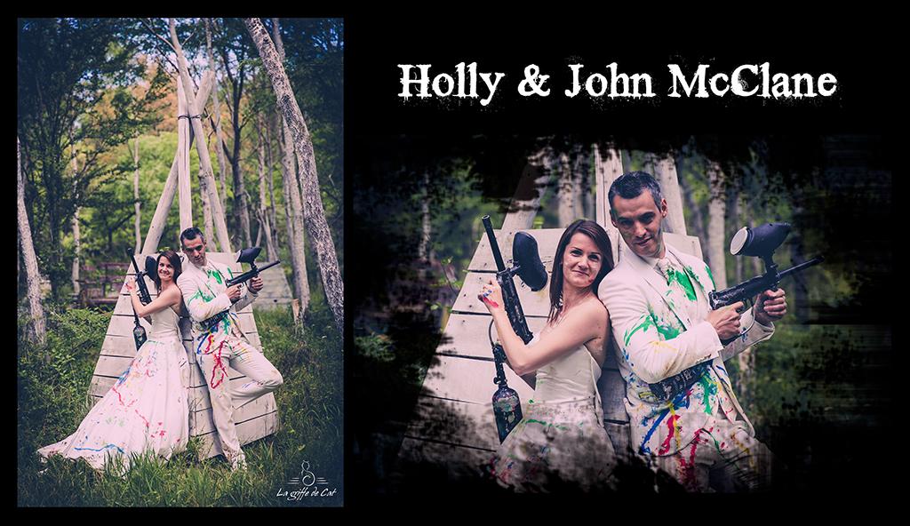Holly & John McClane Trash the dress