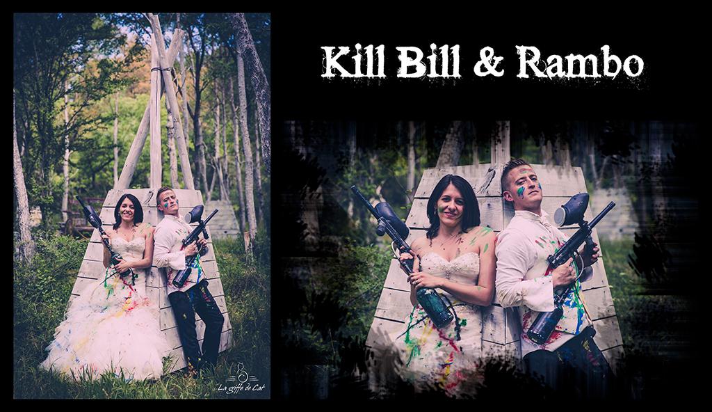 Kill Bill & Rambo Trash the dress