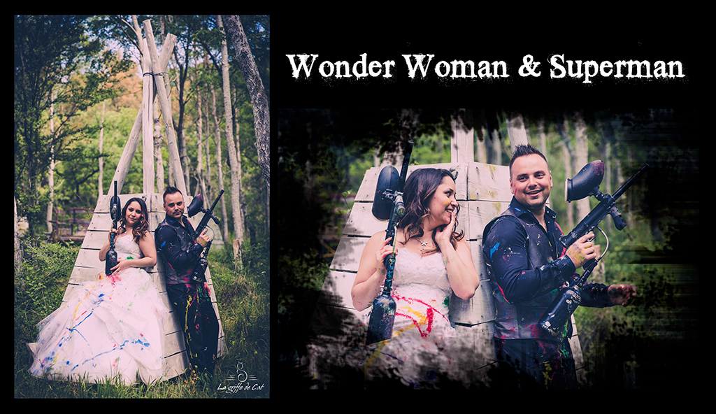 Wonder Woman & Superman Trash the dress