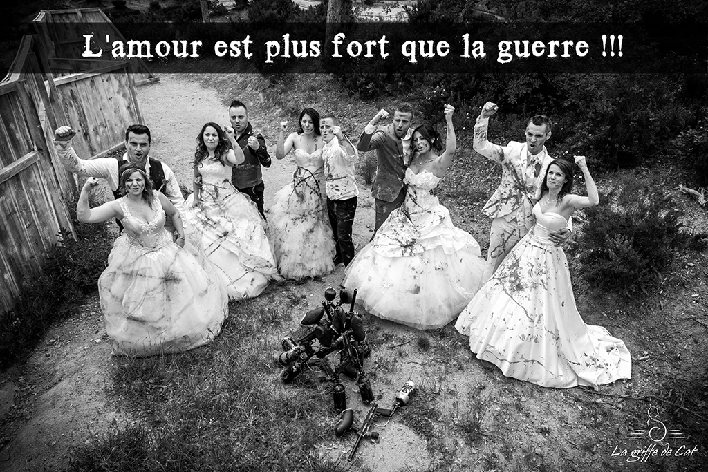 Fin du trash the dress collectif paintball