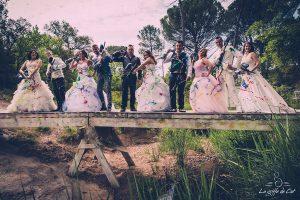 Pont Azur Paint Ball Vidauban trash the dress